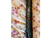 Brand new 2.5lb carp barbel rod specimen 4 piece travel Shakespeare agility exp 12' medium action