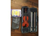 Stentor Violin with lovely case and books - beautiful condition