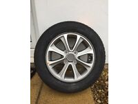 Brand new 14 inch alloy wheel with new continental tyre