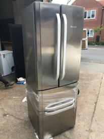 Fantastic new hotpoint fridge freezer in silver
