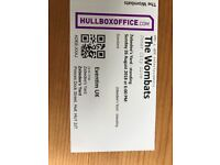 2x The Wombats tickets for 26/08/18