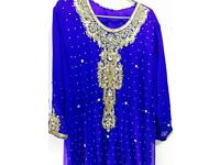 Asian royel blue stunning dress suit for party