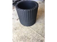 Rattan style pot for gdn/conservatory