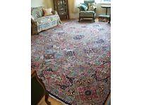 Stunning Large Antique Persian Carpet, 13' x 9', Ravar Kerman, Vintage 1950s Rug