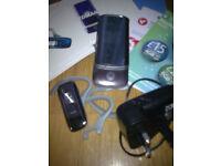 Boxed, Silver Motorola KRZA Mobile Flip Phone (Tesco Network)