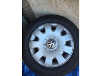 VW Golf MK5 15inch Wheels with BRAND NEW TYRES (Fits all VAG cars, VW, Audi, Skoda, Seat)