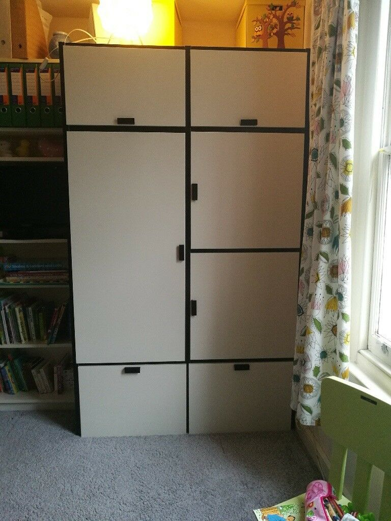 wardrobe for sale ikea visthus excellent condition in. Black Bedroom Furniture Sets. Home Design Ideas