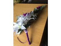 Bridal wedding spray bouquet