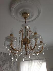 Chandelier + 2x marching wall lights £110 Ono