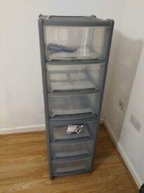 Free 3 drawer Tower Plastic Storage with wheel x 2 unit . Bristol City Centre