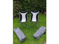 2 Kampa Bistro dining chairs