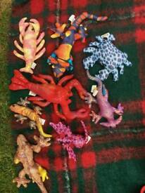 8 x Sand-filled stuffed animals