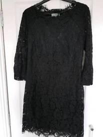 Ladies black lace dress size 16