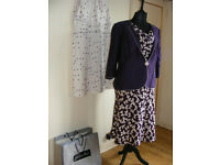 Jacques Vert Mix N Match Dresses & Jacket Wedding Cruise Races Event Sz 20-22