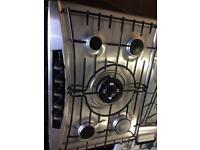 Stainless steel neff five burners 70cm by 50cm gas hob good condition with guarantee