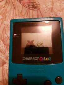 Gameboy color and pokemon red game