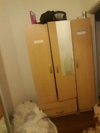 3 door Wardrobe - wooden