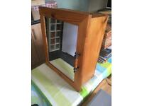SMALL SOLID PINE MIRRORED BATHROOM CABINET - CAN DELIVER