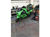 Kawasaki ZX6R project bike.