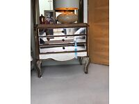 2 Chest of drawers - Elegant and charming VENETIAN GOLD MIRRORED with 3 DRAWERS each