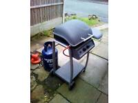Twin burner barbecue