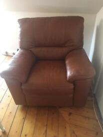 Gorgeous New leather electric reclining armchair