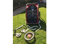 Thule double bike trailer CX2 great condition