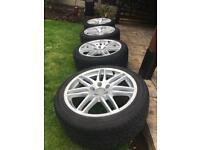 GENUINE AUDI 18inch LEMANS ALLOY WHEELS AND TYRES