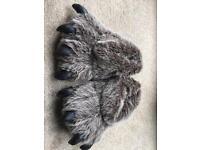 Monster feet slippers size 9-10
