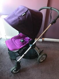 Mamas & Papas Sola Purple Buggy & Carrycot System