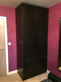 Two wardrobes and matching chest of drawers