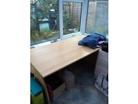 Large (80cm x 160 cm) desk for sale. Colour: birch. Must go by 6th November