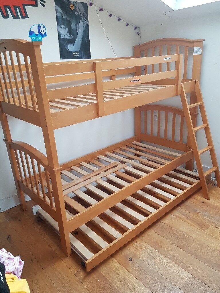 Oseph Wood Maple Uk Single Bunk Bed Bunk Beds W100cm D201cm H168 Cm