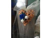 Wedding flowers pew ends