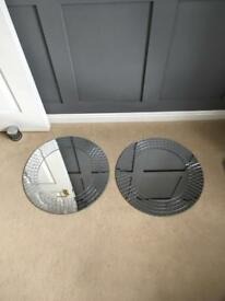 Ikea mosaic mirror x2