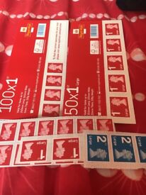 Mixture of postage stamps 1st & 2nd