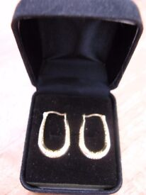 Nice pair of 9ct/ 375 Gold Creole style hollow earings