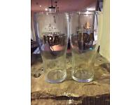Green king IPA stamped bitter glasses