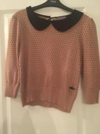 Lipsy knitted top size 10