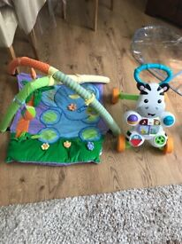 Baby playmat play mat and smyths toys Fisher-Price Learn with Me Zebra Walker