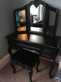 Black Rococo dressing Vanity table