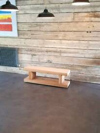 Handmade rustic tv stand made of cedar