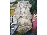 Large rock water feature