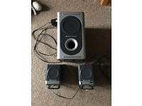 Desktop computer speakers and sub