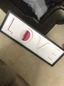 Love picture frame from Next