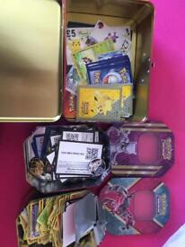Joblot Pokemon cards ands tins