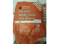 10kg flexible wide joint tile grout artic white