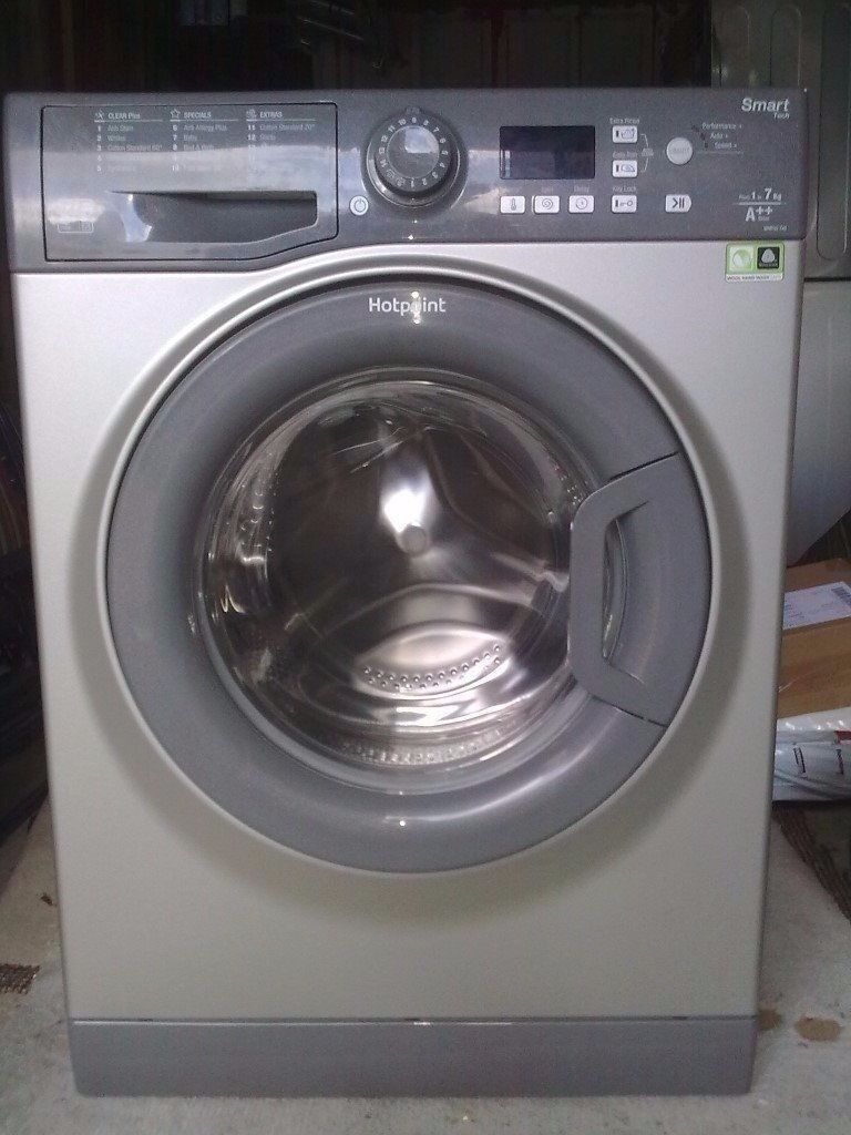 98 Hotpoint WMFUG742 7kg1400Spin Silver LCD A++Rated Washing Machine 1 YEAR GUARANTEE FREE DEL N FIT