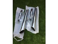 Pair of exhausts for Triumph thunderbird storm