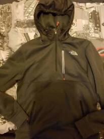 men's north face coat and t-shirt size medium
